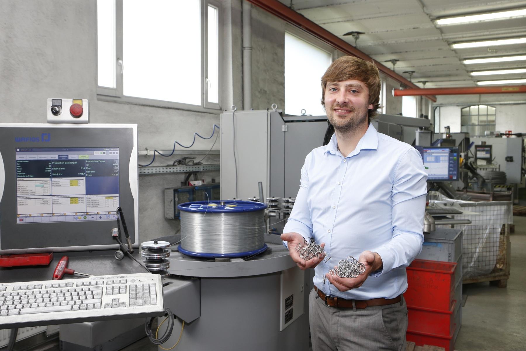 Andreas Jansen ist einer der beiden Geschäftsführer der Schrimpf & Schöneberg GmbH & Co. KG in Hagen-Hohenlimburg